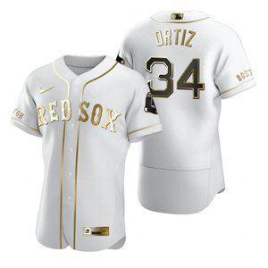 Boston Red Sox David Ortiz White Golden Jersey